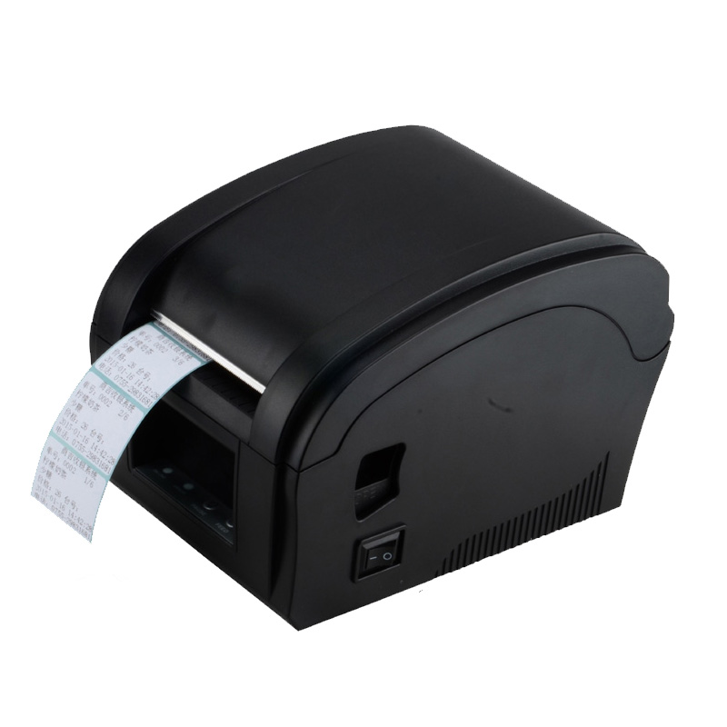 Thermal Barcode Label Printer 80mm Sticker Printer Machine Xprinter 360B Usb Wire Printer Big Gear Wheel Pos Systems S Hot Sale