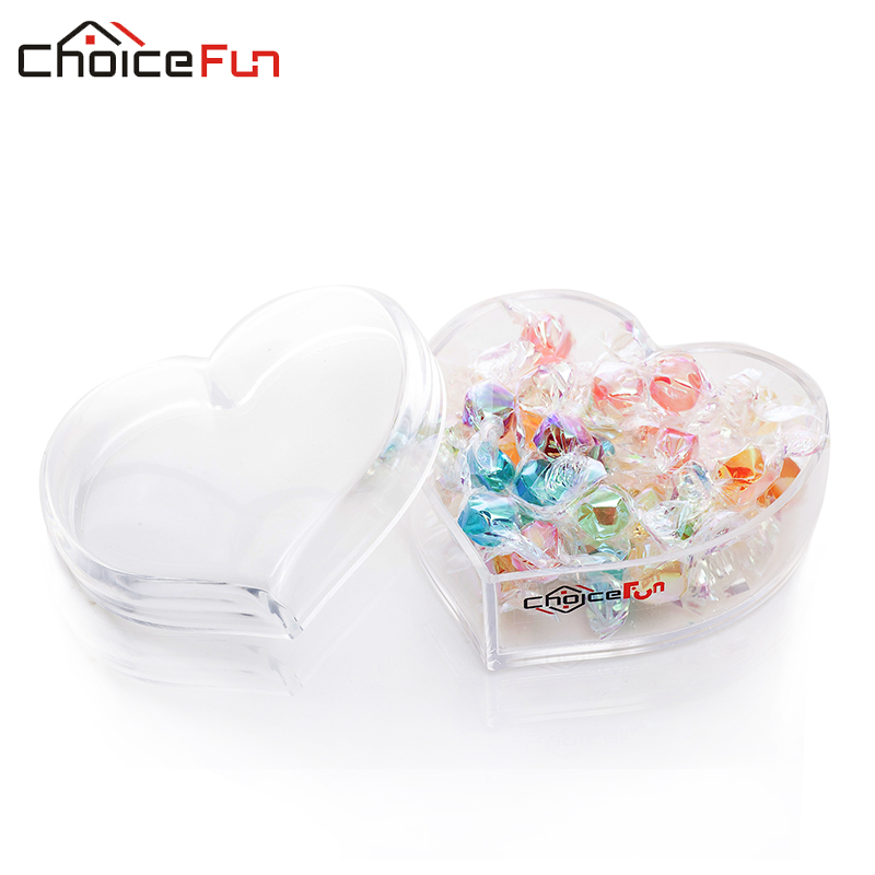 Acrylic Food Storage Containers Part - 35: CHOICEFUN Fashion Acrylic Kitchen Food Organizer Heart Shape Multifunction  Small Candy Box Food Container Accessories SF