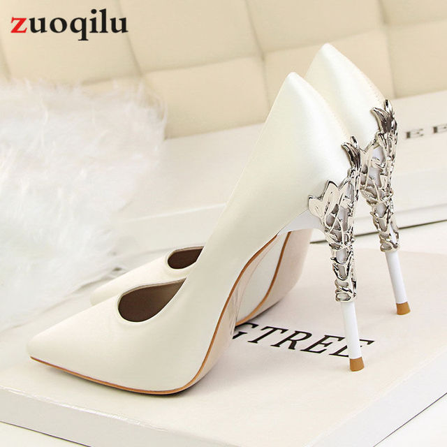 Women Pumps Sexy High Heels Women Shoes Thin Heels Female Shoes Wedding Shoes Birde Sliver Red Gold Ladies Shoes