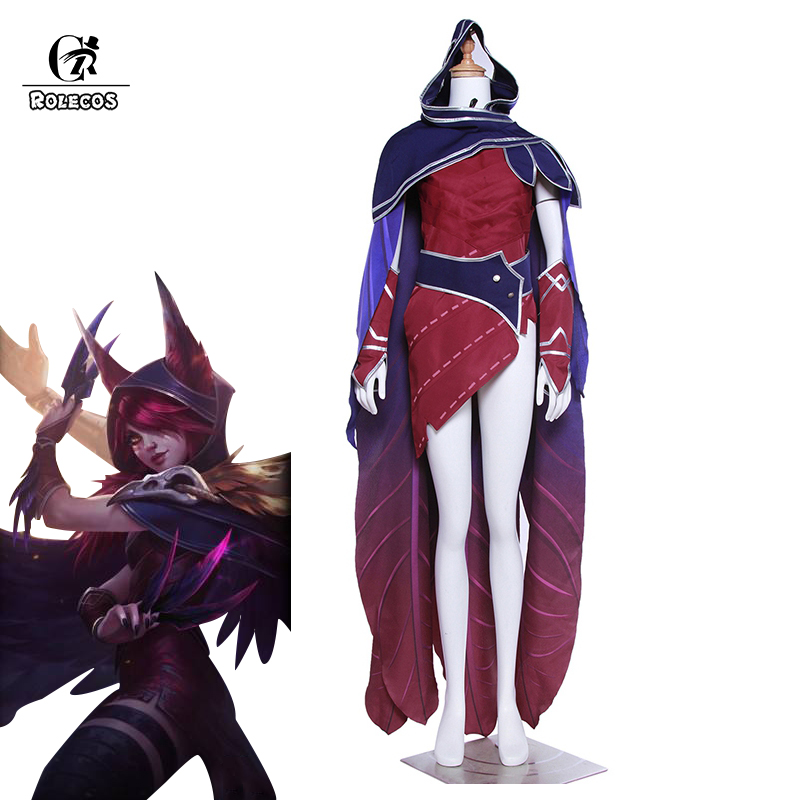 ROLECOS LOL Game Cosplay Costume Xayah The Rebel Costume LOL Customization Brand High Quality Cosplay Custom