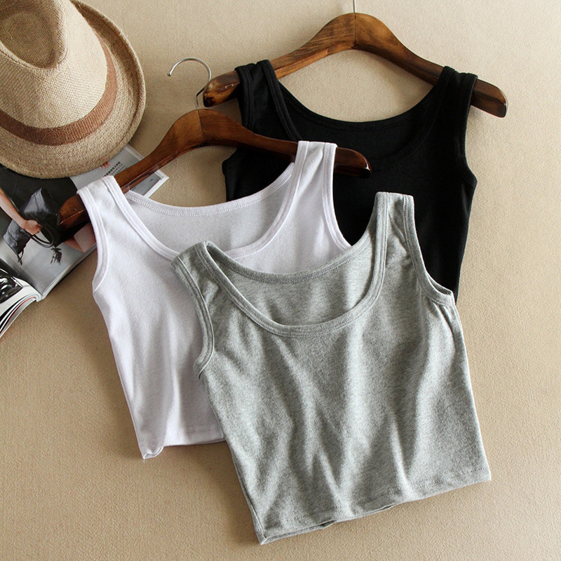 Vest Camis Tank-Tops Crop-Top Club Female High-Street Women Sexy Summer Casual Solid