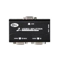 VGA Splitter 2 Port 1 PC to 2 Monitors Supports 1920*1440 250MHz DDC DDC2 DDC2B USB Powered Transmission Up to 60M CKL 1021U