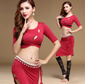 Adult Modal Oriental Belly Dance Practice Costume Set for Women Bellydance Indian Dancing Clothes Dancewear Cropped Tops Skirts