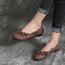 Г. женские весенние туфли-лодочки из натуральной кожи на низком каблуке без застежки женские мокасины Мокасины с носком эспадрильи S961