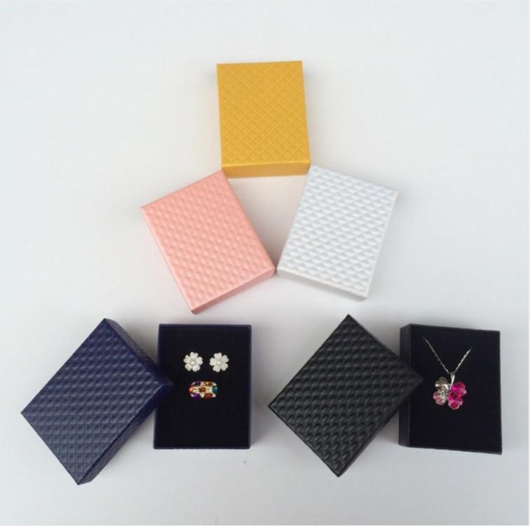 Модные яркие новые 7*9 см Jewery Организатор Box Кольца хранения милый поле Малый Подарочная коробка для Цепочки и ожерелья серьги 5 цветов оптом