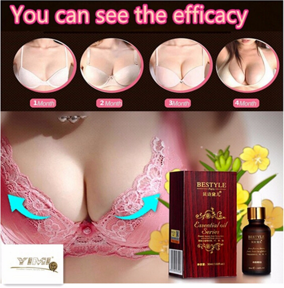 30ml Breast Enlargement Oil 100% Plant Natural Effective Butt Enhancer Cream Big Bust Powerful Breast Enlargement Massage Oil