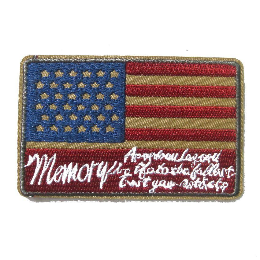 american flag embroidered biker vest patch red border usa military uniform emblem tactical usa. Black Bedroom Furniture Sets. Home Design Ideas