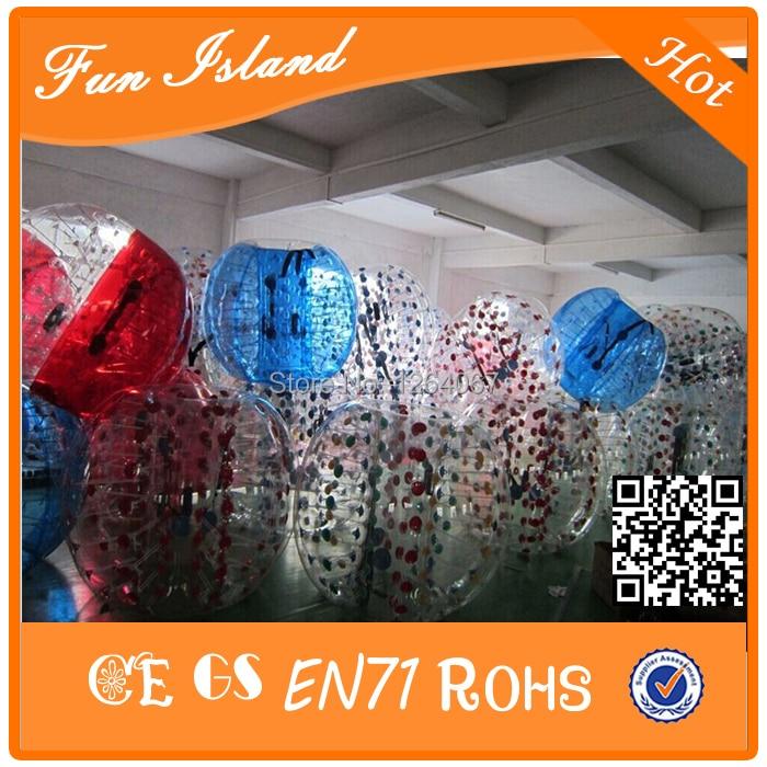 Jouets gonflables colorés de boule de Zorb de Football de bulle de 1.2 m TPU, Football gonflable de bulle de jeu de sport, boule bouclée folle - 6
