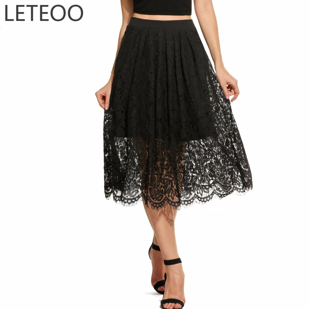 Popular Lace Midi Skirt-Buy Cheap Lace Midi Skirt lots from China ...
