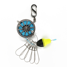 6m/7m Portable Stainless Steel Lanyard Live fishing lock wheel telescopic buckle Fishing Tackle Stringer Floats Reel