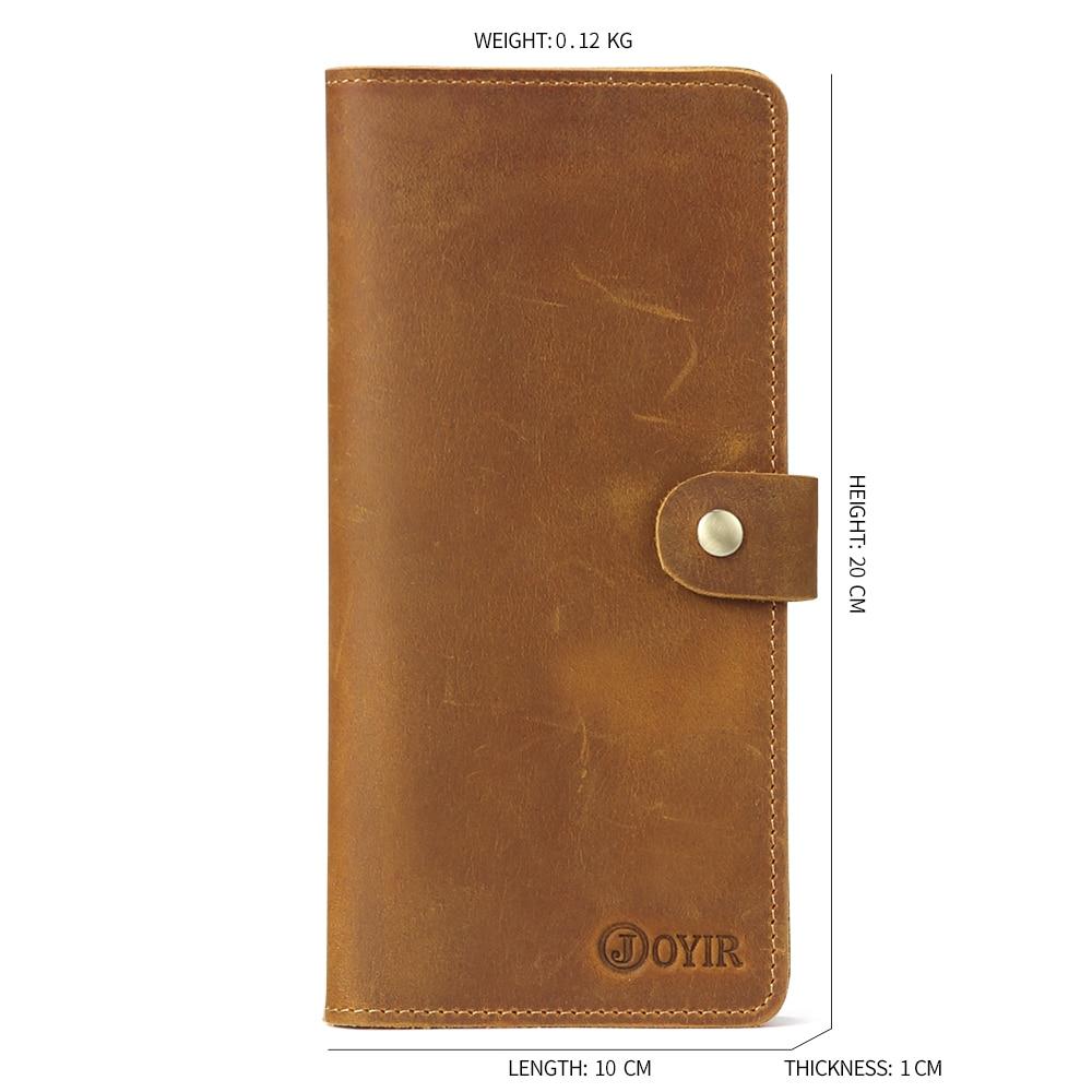 JOYIR Genuine Leather Men Wallet Male Clutch Coin Purse Walet Portomonee For Money Handy Long Fashion Wallets Hombre Perse 2065