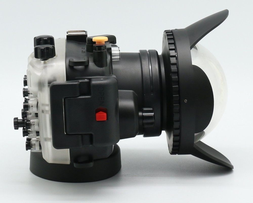 In Stock! Meikon Underwater waterproof Camera Housing Diving Case for Sony A5000 + Fisheye Wide Angle LensDome Port (67mm Round) camera 67mm 0 7x fisheye wide angle lens dome port 67mm round for underwater waterproof diving housing case bag