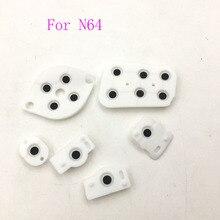 10 комплектов проводящих резиновых кнопок контактов для контроллера Nintendo 64 N64