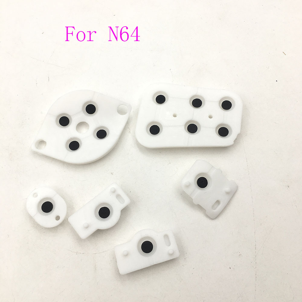 10sets Conductive Rubber Pad Button Contacts Kit For Nintendo 64 Controller N64