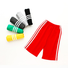Fashion Side Striped Pants Girls Spring Summer Straight Unisex Boys Casual Sport Calf Length School Kids Trousers  2-13 Y