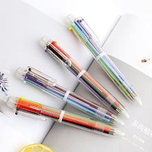 TUNACOCO Cute Multicolour Ballpoint Pens Six Colours Cartridge Ofiice School Supply bb1710088