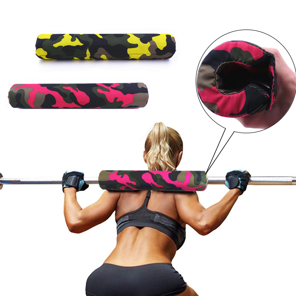 Weight Lifting 1pcs Weight Lifting Squat Shoulder Pad Back Stabilizer Support Arm Barbell Blaster Gym Fitness Shoulder Neck Case Barbell