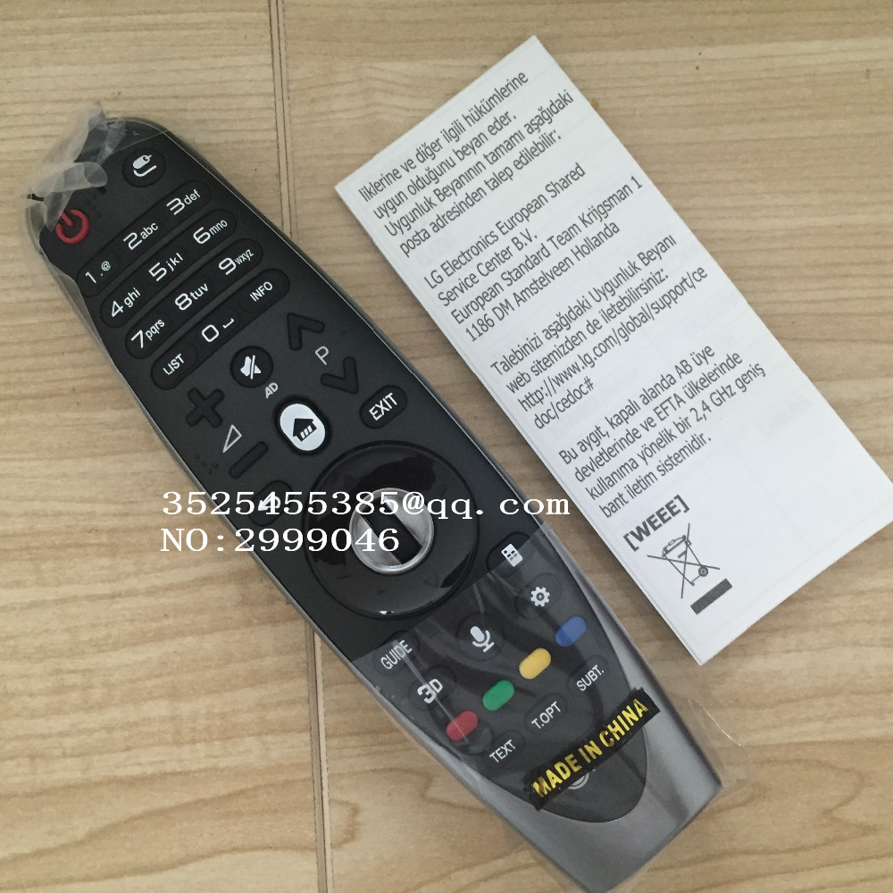 Brand new Original remote control REPLACEMENT AN-MR600 / ANMR600 / AN-MR600G For LG smart TV UF Series English version