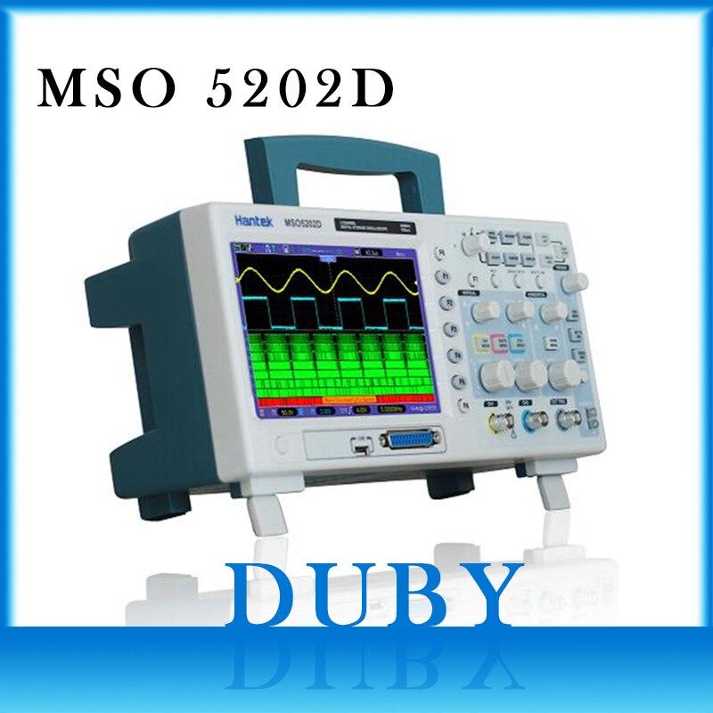 Hantek 200 MHz MSO5202D Mixed Signal Oscilloscopio Digitale A 16 Canali Logici +) + 2 Canali Analogici + Trigger Esterno canale