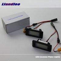 For Skoda Yeti Octavia Rapid Hatchback Liftback LED Car License Plate Lights Number Frame Light High
