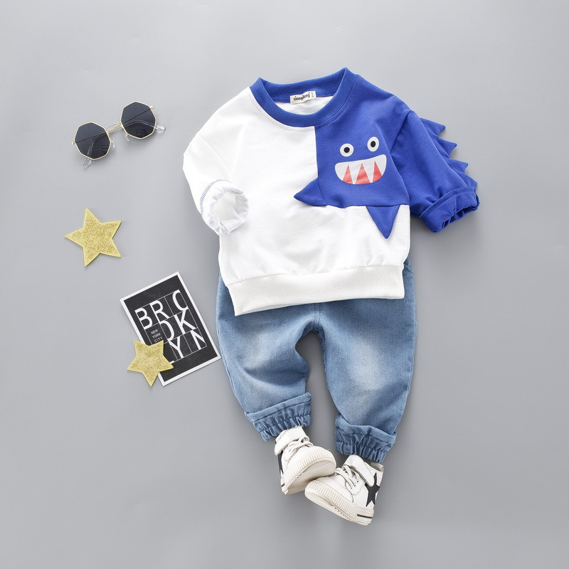HYLKIDHUOSE 2019 Spring Toddler Infant Clothing Sets Baby Boys Girls Clothes Suits Dinosaur T Shirt Pants Kids Children Costume