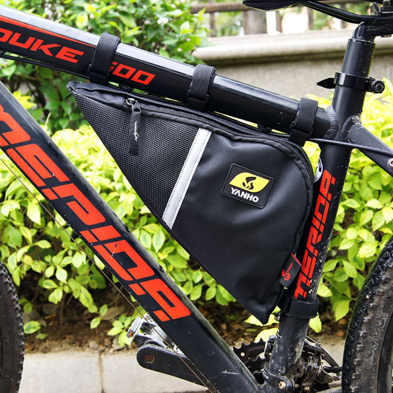 Outdoor Cycle Frame Bags Bikes Luggage Storage Bicycle Front Tube Triangle Pouch