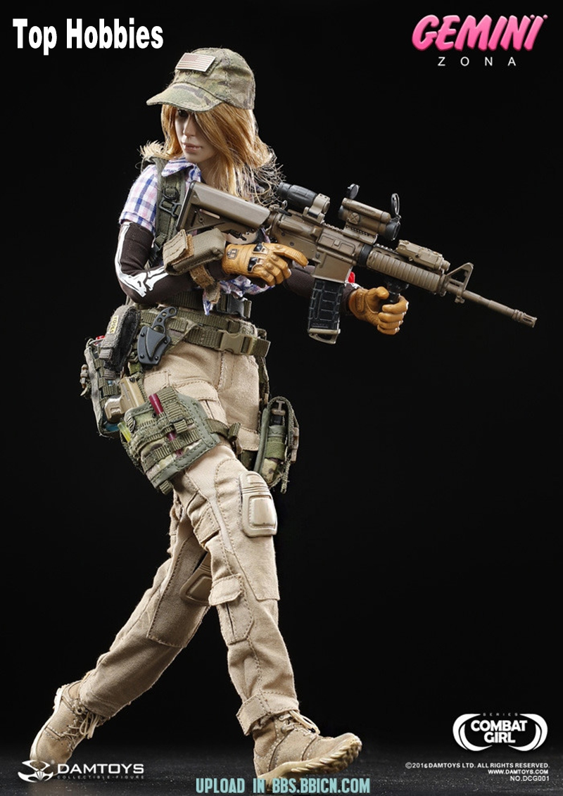1/6 Female DAMTOYS DCG001 1/6 COMBAT GIRL pony girl Series Gemini Zona Female PMC Toys New Hot Toys Action Figure useful goods