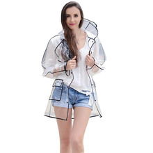 EVA Transparente Regenmantel Klar Regenbekleidung Kapuzen Outdoor Touring Regen Mantel