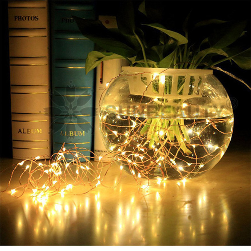 2/3/5 M Led Strings Copper Wire Holiday Christmas Wedding Party Home Decoration Led Strip Lamp Fairy Lights AA Battery Operated