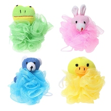 ChildrenS Toy Cushion Puff Mesh With Stuffed Animal (4 Packs) Frog, Duck, Rabbit, Bear