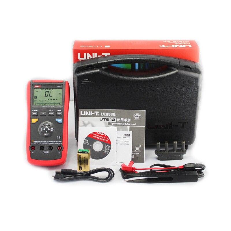 UT612 Ручной LCR Цифровой мост тестер Счетчик Измеритель емкость индуктивность метр USB Интерфейс 20000 отсчетов