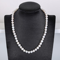 White elegant Pearl Necklace Nattural Pearls Necklacef Women Fashion Crystal Chains Popular Pearl Jewelry For Necklace