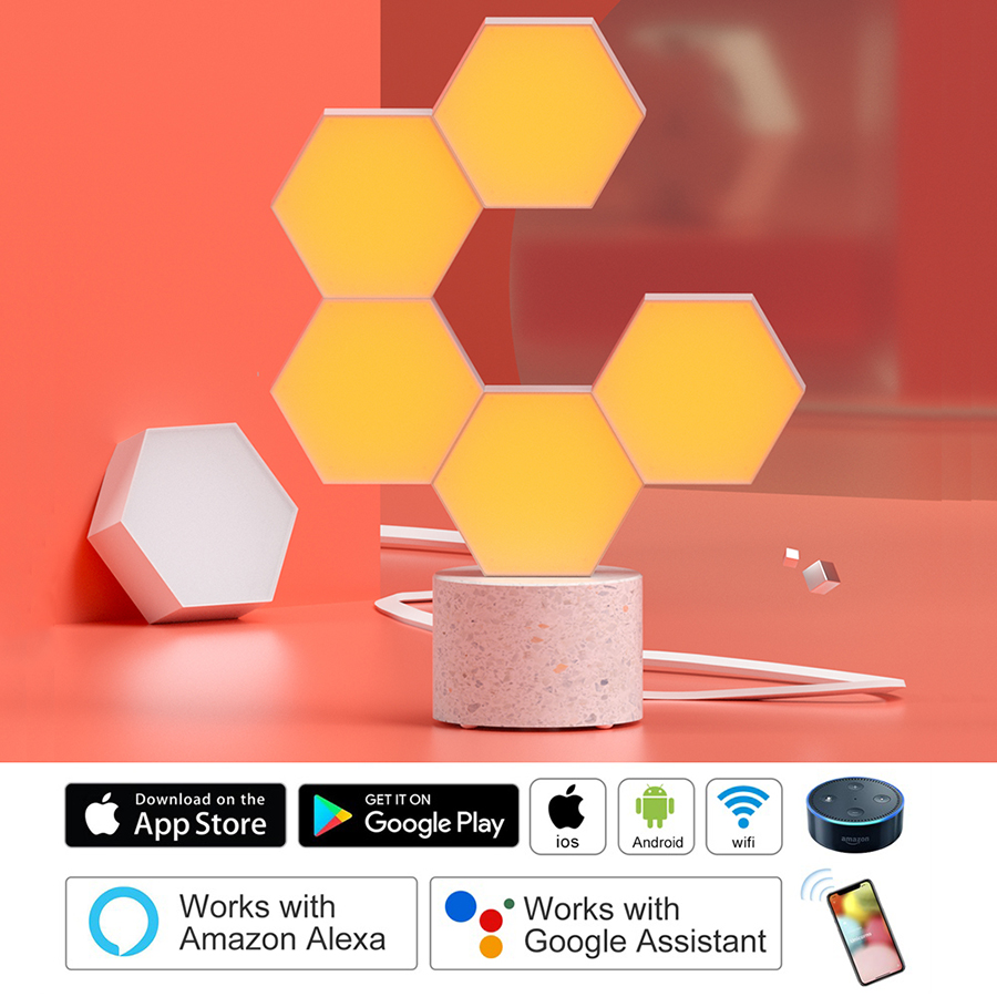 Lifesmart DIY Night Light Creative Geometry Assembly Smart APP Control Home LED Night Light For Google Home Amazon Alexa Lamp