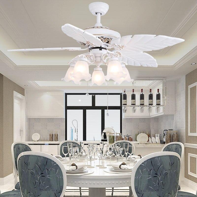 Inch European Modern White Ceiling Fans