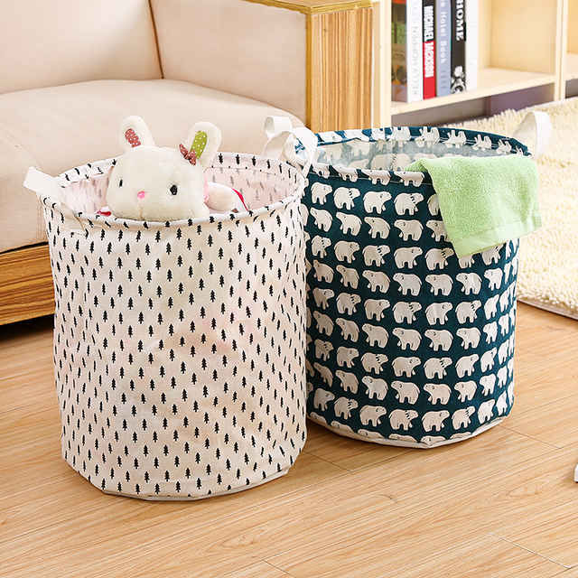 1pc Miana Dirty Baby Clothes Basket Toys Storage Fabric