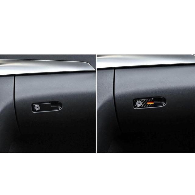 Innen trim streifen Carbon Faser Tür Griff Aufkleber Copilot Seite Lagerung Trim Aufkleber für Mercedes C-Klasse W205 GLC #713