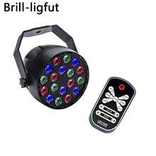New Professional Laser LED Stage Lights Sound Activated 18 LED DMX512 RGB DJ Dance Par Lights Disco Party KTV Bar Wedding Lights