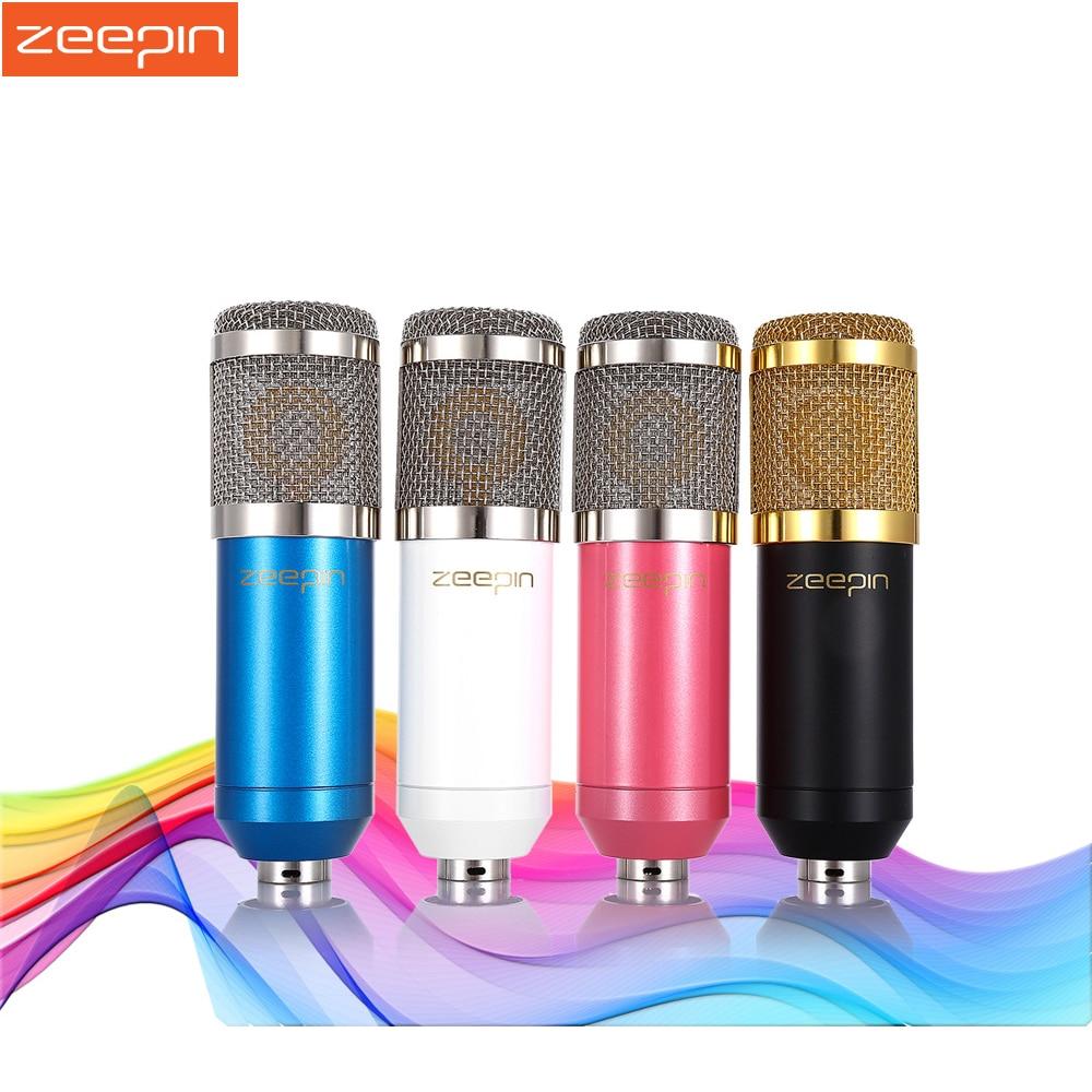 Original ZEEPIN BM 800 Micrófono de Condensador de Grabación de Sonido con Montaje de Choque para Radio Broadcasting Canto Negro