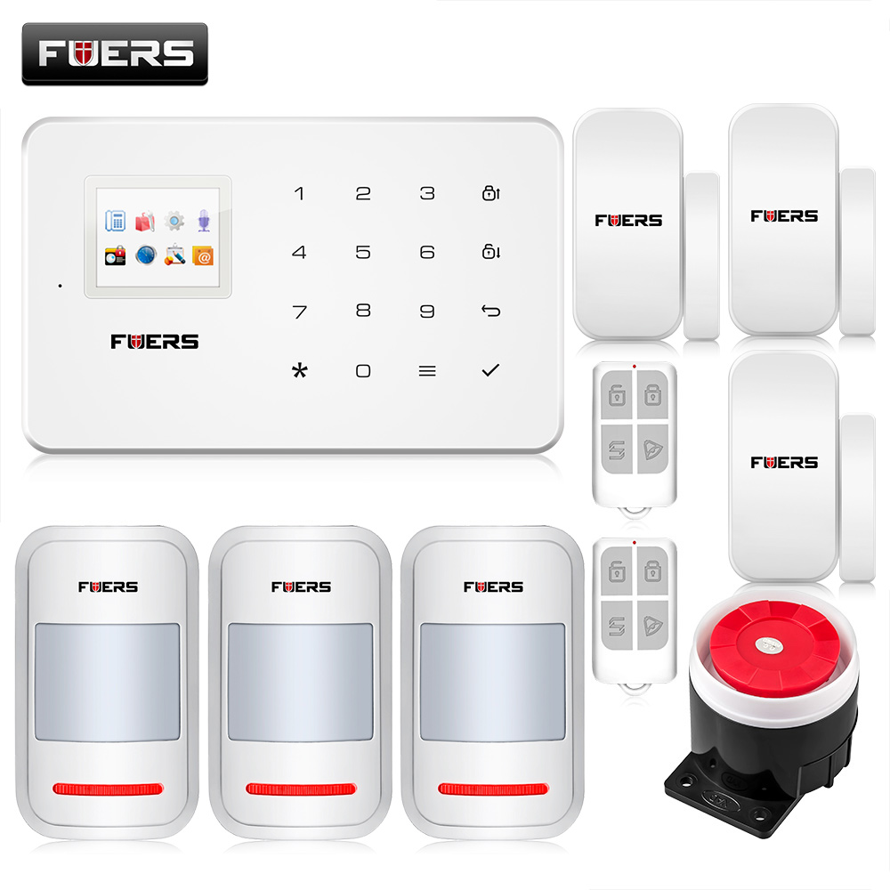G18 wireless Android iOS App remote control gsm sms alarm system wireless window gap magnetic