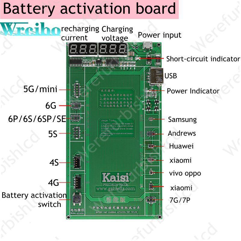 imágenes para Wrcibo 7 P Teléfono de Activación de la Batería Placa PCB con USB de Carga Cable para el iphone 6 7 VIVO Huawei Samsung xiaomi Circuito prueba