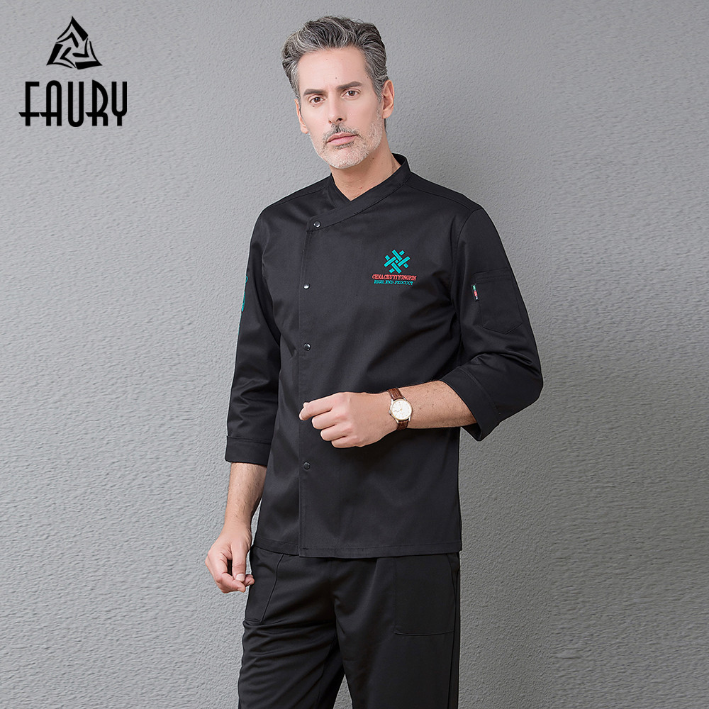 Single Breasted Kitchen Chef Suit Work Uniform Top Restaurant Food Service Catering Cooking Coat Cuisine Cozinha Clothing Outfit