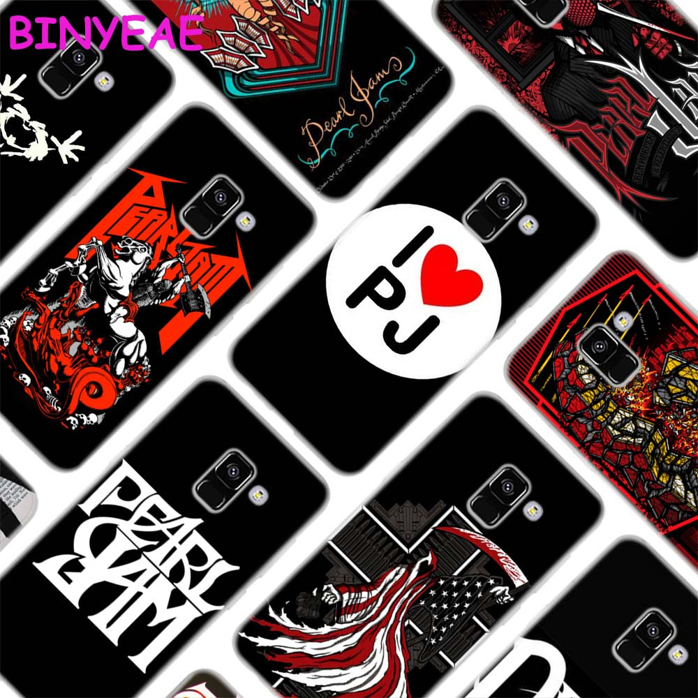 BINYEAE Pearl Jam PJ Style Clear Soft TPU Phone Cases Cover for Samsung A5 A3 A7 A8 2017 2016 2018 ...