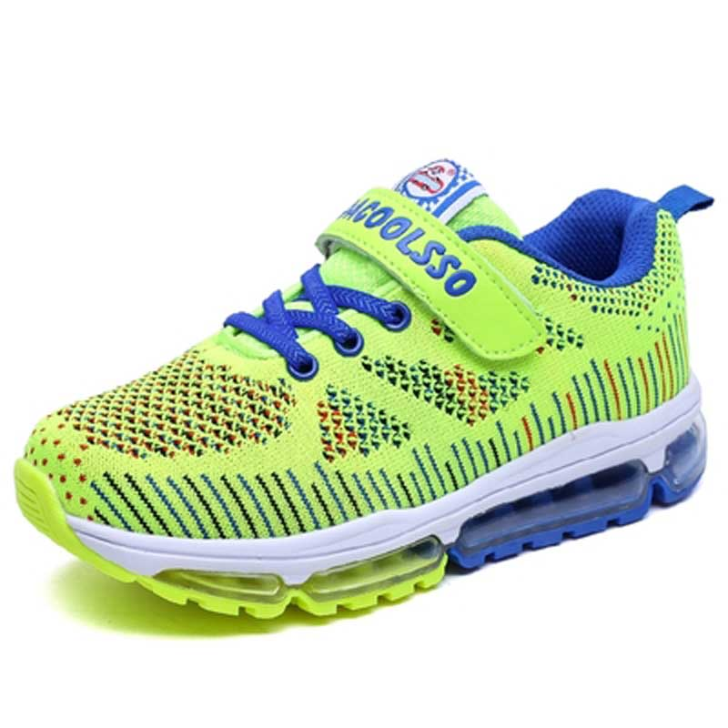 2017 New Children Sport Shoes Brand Boys Girls Running Shoes Blue Red 4 colours Big Kid Shoes Summer Trainers Kids Sneakers