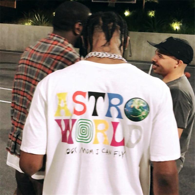 TRAVIS SCOTT ASTROWORLD CONCERT MERCH Summer men's and women's cotton t-shirts 2019 summer new products hip hop Street costumes