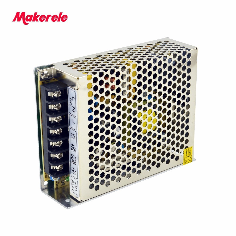 цена на 5V 15V -15V dc 50w triple output switching model power supply SMPS CE approved NET-50C enclosed makerele brand
