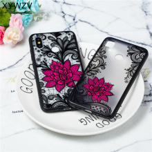Flower Case Xiaomi Mi 8 Luxury Retro Lace Pattern Matte Phone For Back Cover Plastic Shell