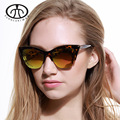2015 New Brand Design Women Half Frame Cat Eye Sunglasses Fashion Vintage Alloy Cat Eye Sunglasses Mirror Oculos De Sol Gafas