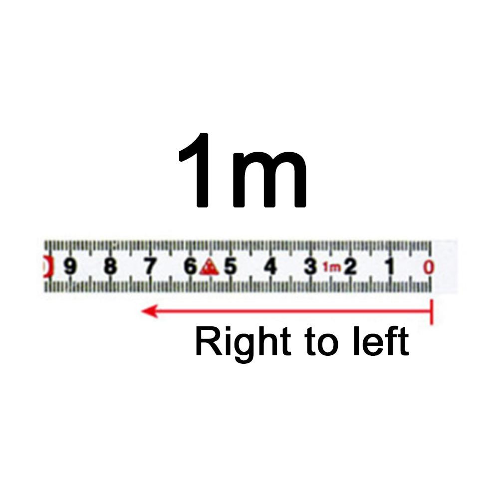 0-10M Stainless Steel Sticky Ruler Metric Measure Gauge Tape Scale Measuring Kit
