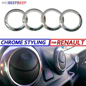 Chrome air deflector for Renault Duster 2010-2018  Logan 2004-2013  Sandero 2009-2013 car styling decoration molding interior circle
