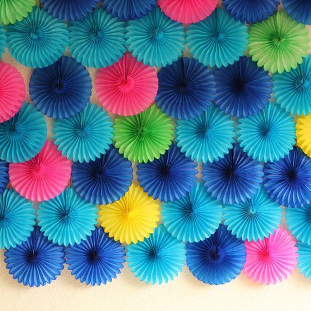 4pcs 10inch(25cm) Decorative Tissue Paper Fans Honeycomb